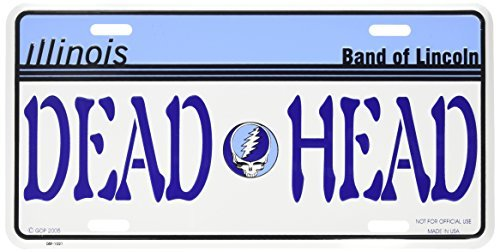 Grateful Dead Bear GRATEFUL DEAD BEAR license plate ILLINOIS DEAD HEAD LICENSE PLATES