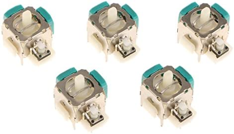 コントローラーアナログスティック Eタイプ 高品質 交換用 XBOX 360用 5個セット