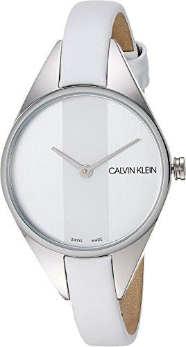 Calvin Klein Women's Rebel Watch - K8P231L6 Silver/White One (Calvin Klein Womens White Dial)
