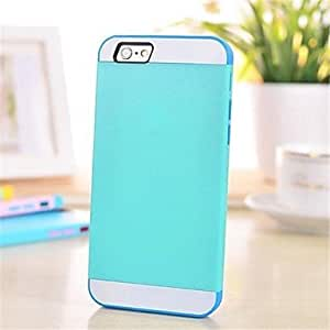 """YXF Three-color Mix TPU + PC Case for iPhone 6 4.7""""(Assorted Colors) , Blue"""