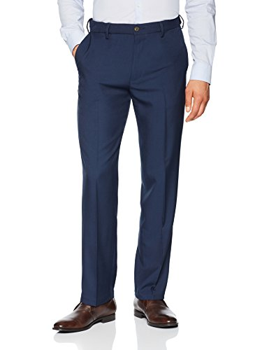 - Franklin Tailored Men's Expandable Waist Classic-Fit Dress Pants, -blue, 40W x 30L
