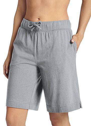 Jockey Women's Sleepwear Everyday Essentials Cotton Bermuda Short, Grey Heather, L
