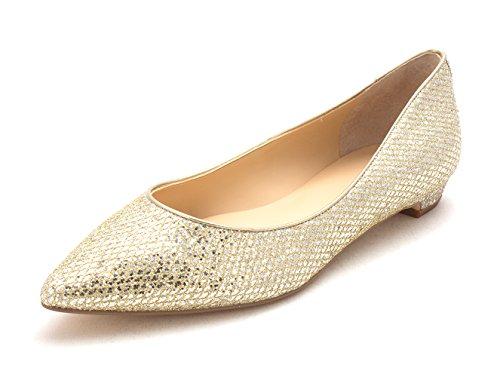 Texture Flats Tizzy9 Gold Multi Toe Pointed Womens Slide Trump Ivanka AqUzSA