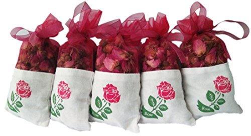 Wahdawn Dried Rose Petals Sachets Bag 1.2oz - Drawers Storage Closets Accessories & Car Freshen (5)