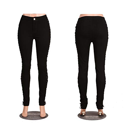 Spliced Le solido Nero 196 Micro Alto Di Pantaloni Elastico Luogo Black Colore Nbe Croce Donne Leggings Jeans q6wdCYqv