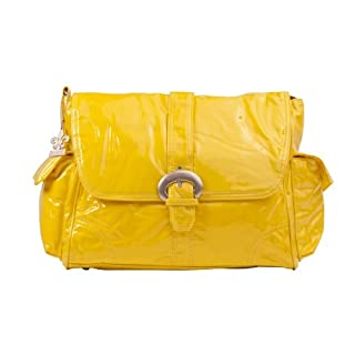 Kalencom Laminated Buckle Bag, Yellow Corduroy