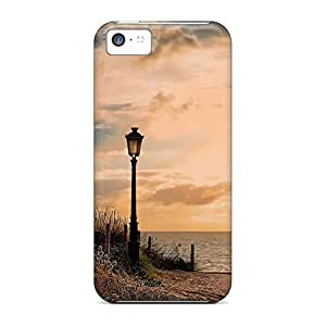 High Grade phone case skin New Snap-on case cover Nice iphone 5 / 5s - lamp post beach