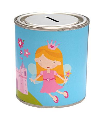 CanTastic Kids Fairy Princess Money Savings Tin Girls Box Can Jar Saver Cash, 500 ml