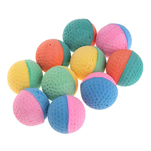 (Tanqifo Foam/Sponge/Latex Ball Cat Toy Best Interactive Dog Cat Toys Ever Most Popular Independent Pet Kitten Cat Exrecise Toy balls for Real Dogs Cats Kittens, Soft/Bouncy/Noise Free, 10 Pcs)