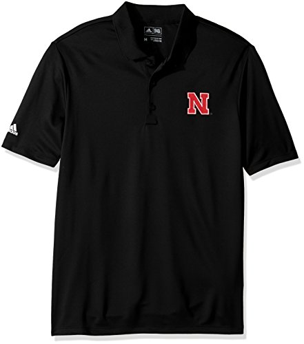 adidas NCAA Nebraska Huskers Adult Men Primary Logo Performance Polo,Large,black Nebraska Huskers Golf