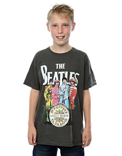 The Beatles Boys Sgt Pepper T-Shirt 7-8 Years Light Graphite - Kid Rock Merchandise
