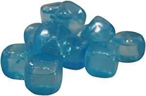 15 Reusable Ice Cubes Freezable Water Bottle Cooling Cubes (15 Sticks) (Blue (Light))