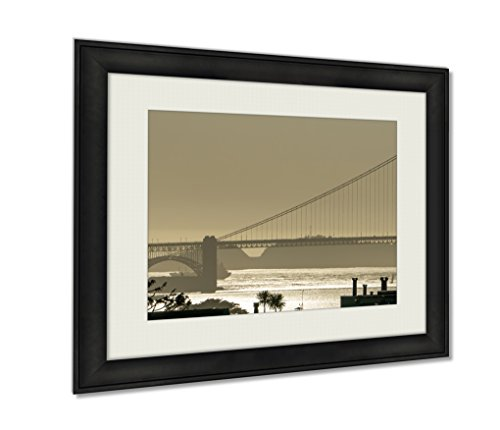 Ashley Framed Prints, Golden Gate Bridge In Its Beauty At Sunset, Wall Art Decor Giclee Photo Print In Black Wood Frame, Ready to hang, 24x30 Art, AG6529675