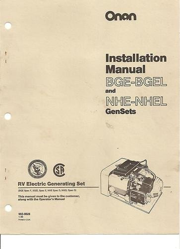 Amazon com : ONAN GENERATOR NHE/NHEL BGE EMERALD III Manuals