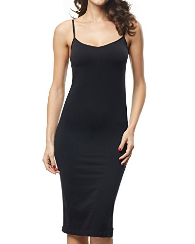 Beilini Women Basic Adjustable Spaghetti Strap Cami Active Camisole Slip Dress Sleepwear