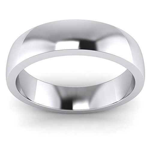 LANDA JEWEL 5mm Heavy Sterling Silver Comfort Fit Polished Womens Wedding Ring Plain Band (9) by LANDA JEWEL (Image #1)