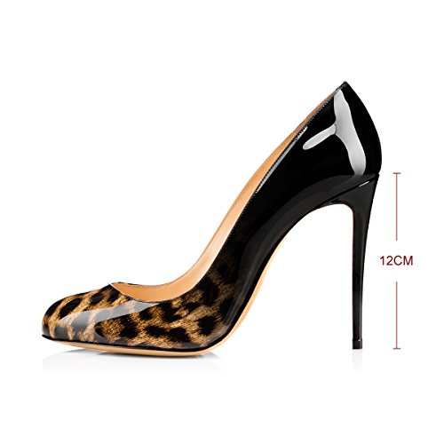 onlymaker Women's High Heel Pumps Pointed Toe Sandals Wedding Party Dress Court Shoes for Women Leopard A FNutTyH