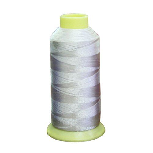 Polyester Yarn - TOOGOO(R) Stronger 5000m Cones Bobbin Thread Filament Polyester for Embroidery Machine (White) ()
