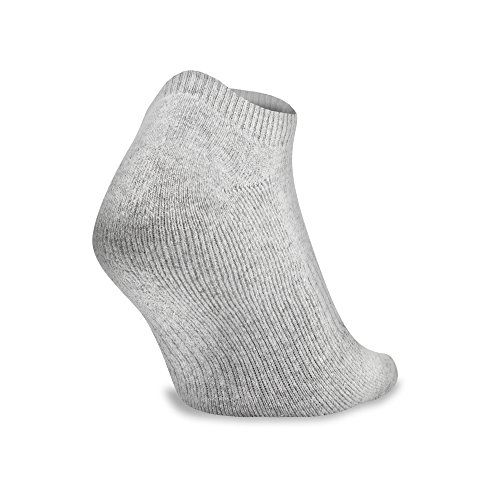 Under Armour Charged Cotton 2.0 No Show Socks, 6 Pairs, True Gray Heather Assorted, x Large by Under Armour (Image #5)