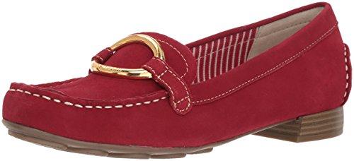 Klein Shoes Flat Womens (Anne Klein Women's Harmonie Loafer, Red Suede, 8.5 M US)