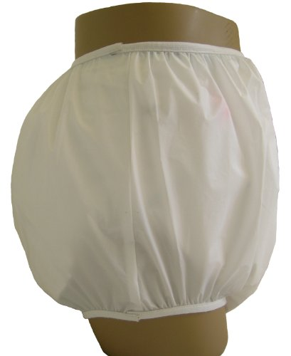 Baby Pants Gerber White Adult Pullon Plastic Pants - Large -