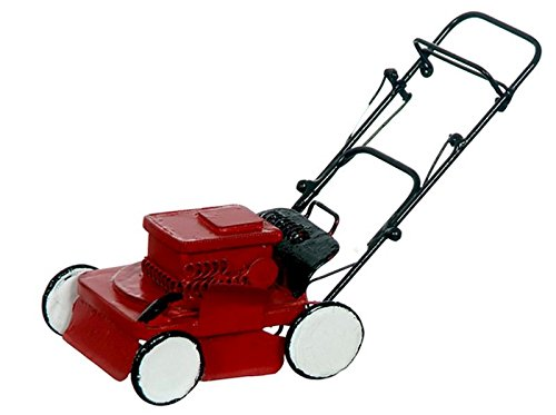Dollhouse Miniature Red Lawnmower (Mini Lawn Mower)