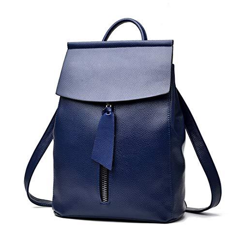 femelle fonctions sac solide scolaire Blue bandoulière décontractée voyage fermeture dos de double Lady Sac mode simple grande capacité sac éclair agCSR