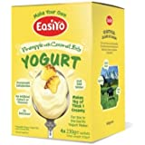 EasiYo Pineapple with Coconut Bits Yogurt mix sachets, 4 x 230g - Each Makes 1kg