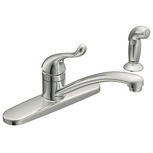 Moen CA87530 Kitchen Faucet with Side Spray from the Adler Collection, Chrome