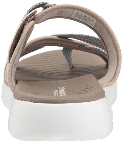 Marrones Skechers Taupe Detalle con Sandalias Azul 15308 qzAw5CF