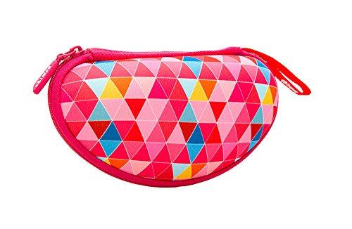 ZIPIT Colorz Box Glasses Case, Pink Triangles Photo #3