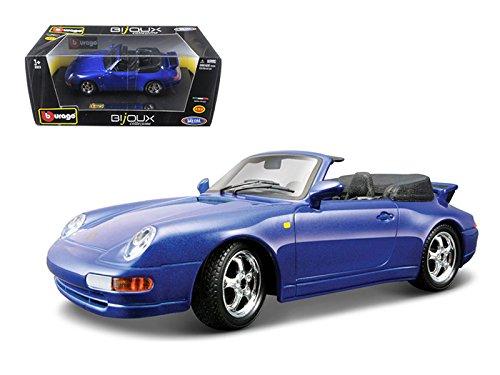 - Bburago Porsche 911 Carrera Cabriolet Blue 1/24 Diecast Model Car by 22080bl
