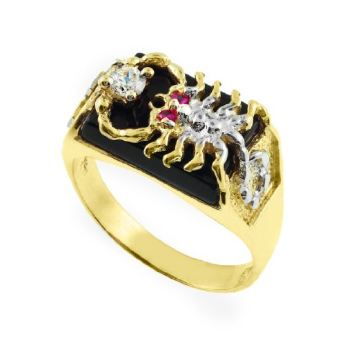 onyx scorpion s rings com amazon men gold slp scorpio ring black solid