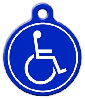 Handicapped Symbol Pet ID Tag for Dogs and Cats - Dog Tag Art - SMALL SIZE by Dog Tag Art