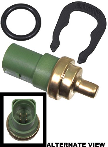APDTY 133634 CTS Coolant Temp Sensor w/ Clip & O-ring Seal Fits Green 4 Pin 98-13 VW Beetle (Replaces 059-919-501A, 059919501A, 078919501C)