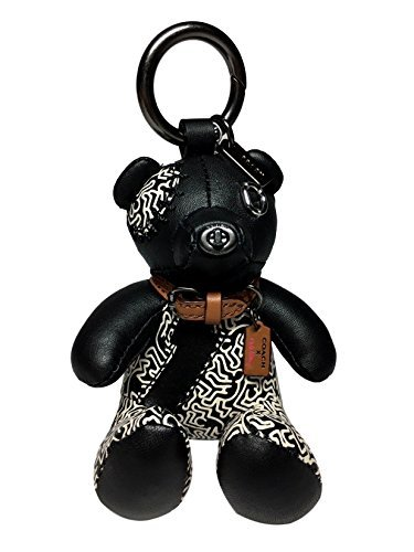 COACH X Keith Haring Limited Edition Bear Bag Charm / Purse Fob Key Chain in Black / White 20137