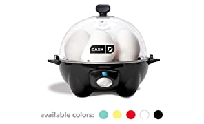 Dash DEC005BK black Rapid 6 Capacity Electric Cooker for Hard Boiled, Poached, Scrambled Eggs, or Omelets with Auto Shut Off Feature, One Size