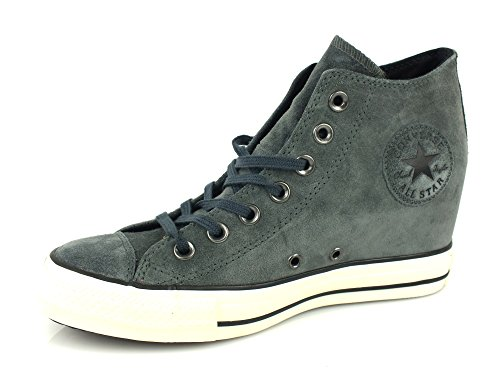 All Star Hi Leather Unisex Charcoal/Black