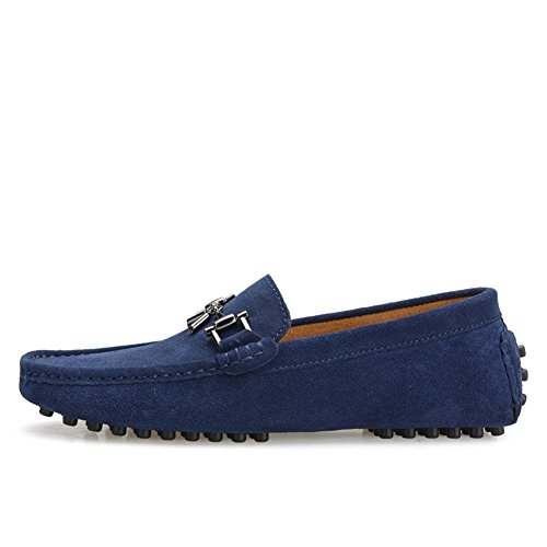 Tentos Heren Matal Tassle Instappers Loafer Donkerblauw