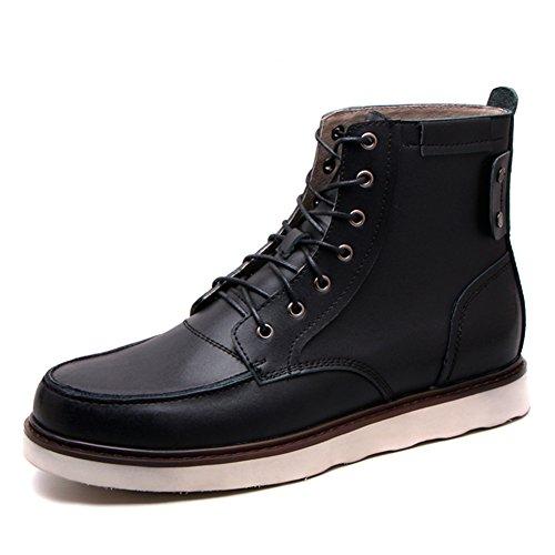 Hombres zapatos vestido escalar montañas otoño aire libre [fondo blando] botas resbalón encendido negro-marrón-negro Longitud del pie=42EU