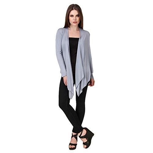 1dd54dc91d6 Komal Trading Co Women's Grey Shrug Stylish Denim Shrugs for Women Girls  for Summer Solid