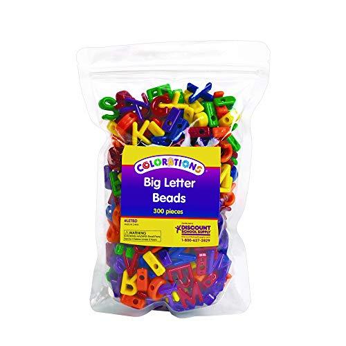 Colorations Big Letter Beads - 300 Pieces (Item # LETBD) ()