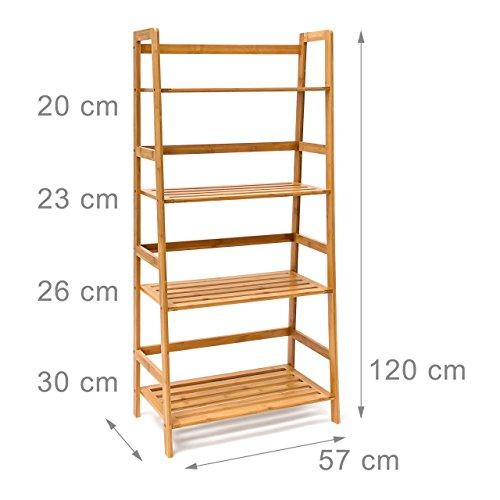 Bamubs estante estanter a de ba o estante estanter a en equipster escaleras forma 4 pisos - Amazon estanterias bano ...