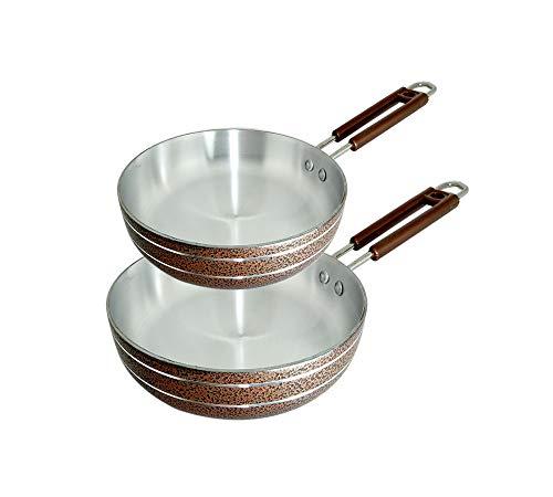 Bartan Hub Fry Pan Set  20cm, 22cm  Fry Pan 20 cm, 22 cm Diameter  Aluminium