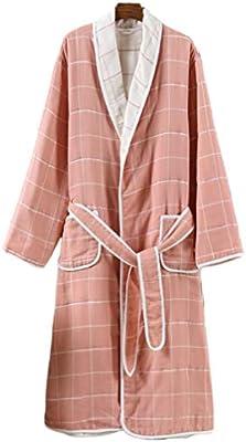 TOPBATHY Bata de Baño de Algodón para Adultos Kimono Pijama Cálido ...