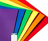 A2G604 Gloss Permanent 12 X 12 Inches - Rainbow 12 Pack Outdoor Adhesive Backed Vinyl Sheets Personal Craft Sign Cutters Wall Decals