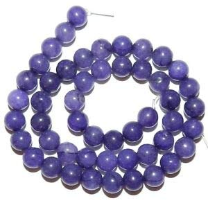 (GR753 Royal Purple Malay Jade 8mm Round Quartz Gemstone Beads 15