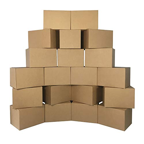 UBOXES Medium Moving Boxes 18 x14 x 12 Inches , Bundle of 20 Boxes (BOXBUNDMED20)