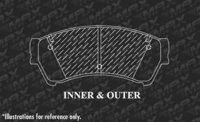Max Brakes Front Performance Brake Kit TA062031 Premium Slotted Drilled Rotors + Metallic Pads Fits: 2011 11 2012 12 Ford Fusion
