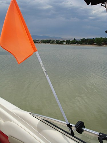 Flag Buddy Skier Down Flag Holder. Flag included. Orange safety flag included. (Water Ski Flag)